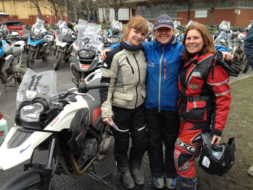 Instructor Jenny Huntley from Simon Pavey's Off Road Skills Motorcycle Training School, Wales