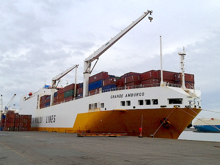 Our cargo ship 'Grande Amburgo'