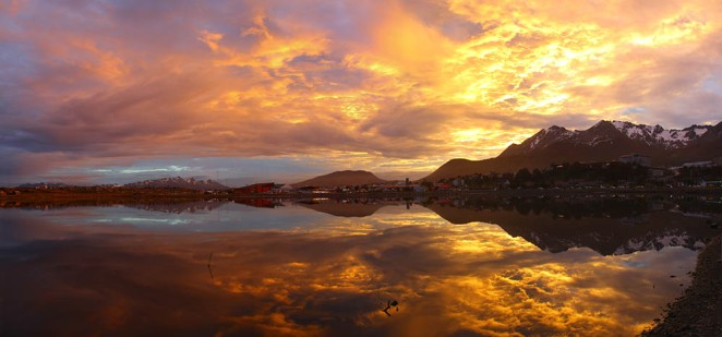 Sunset over Ushuaia, courtesy of Andrew St Paul.