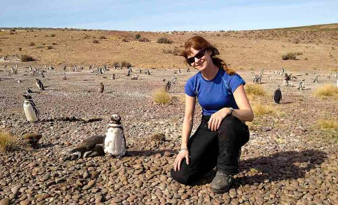 Lisa with Megallanes Penguins