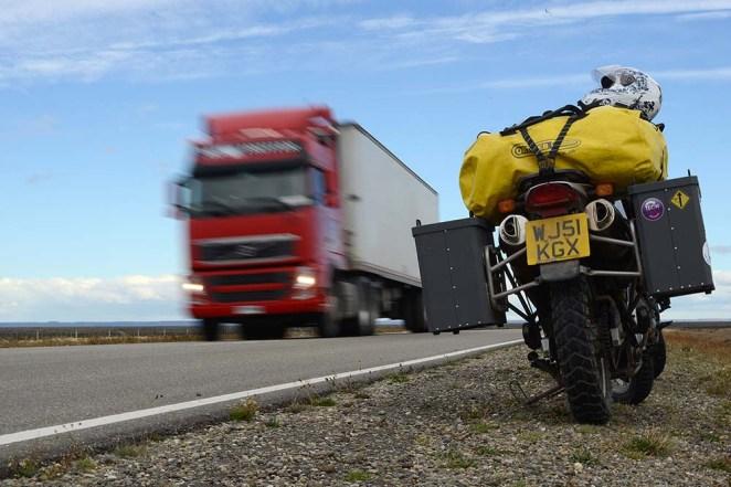 The long Ruta 3 down to Tierra Del Fuego