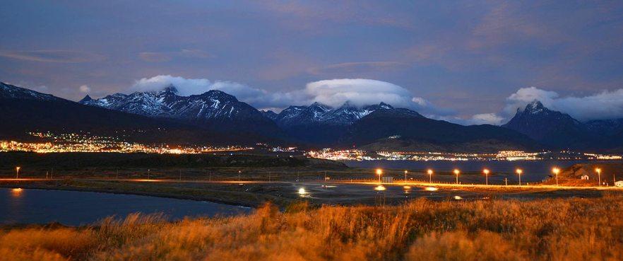 Ushuaia by night.