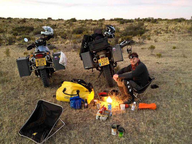 Wild camping at Cabo Del Bahia