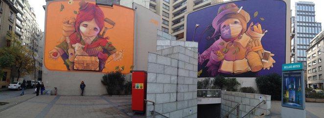 Santiago's local street art