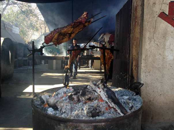Mendoza's local outdoor parilla - grill