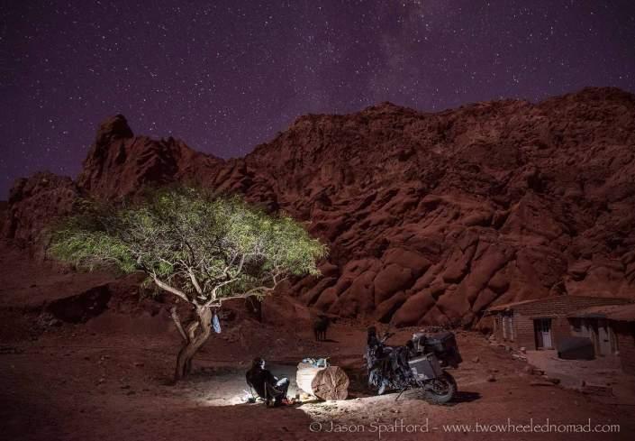 Wild camping in Purmamarca