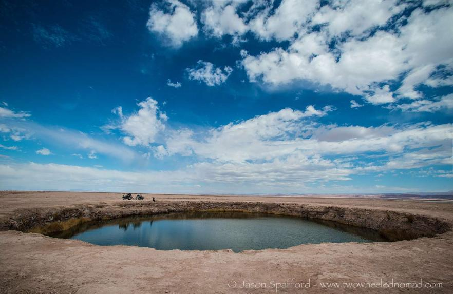 Sink holes in the Atacama desert