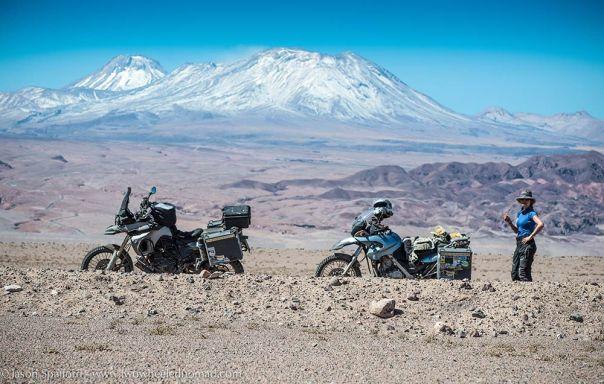 Enjoying Salar de Atacama.