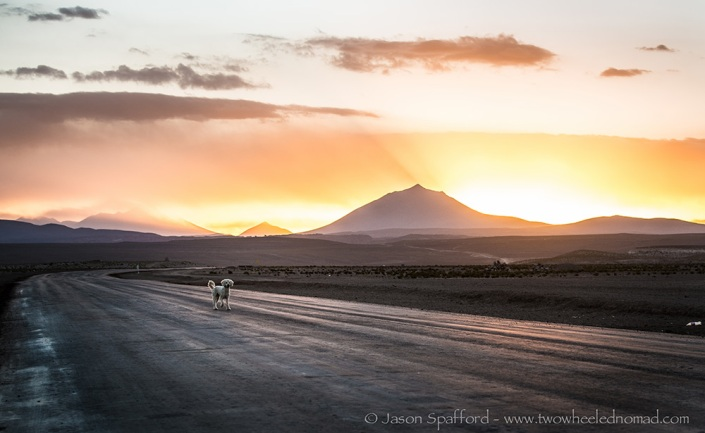 Beautiful sunsets in Bolivia