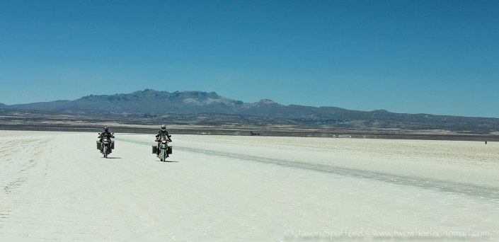 Riding the Salar de Uyuni