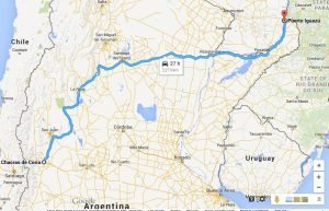 Our 36 hour bus route from Mendoza to Puerto Iguazu