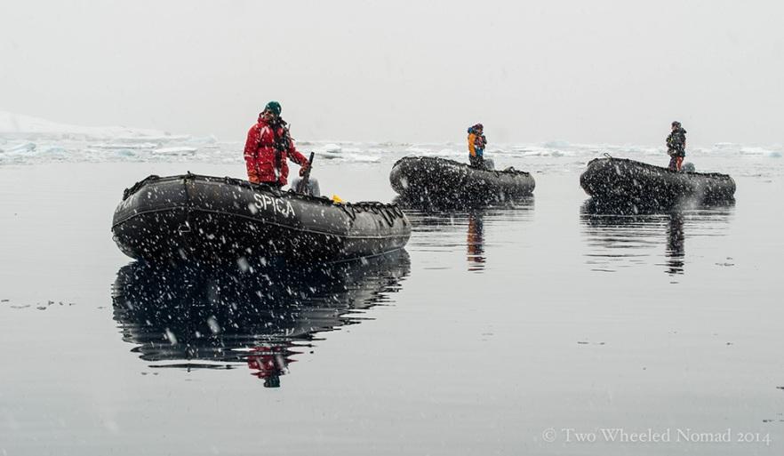 Boat petrol, Antarctica