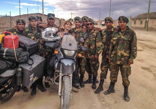 In a Bolivian army sarnie!