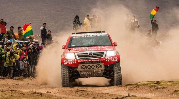 Kicking up a storm at the Dakar