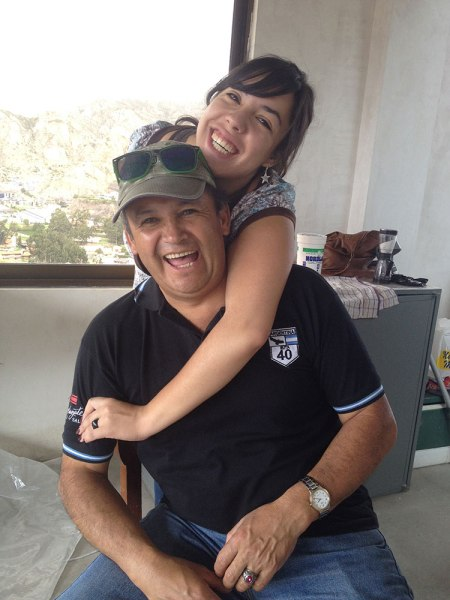 Oscar with his daughter, Adri