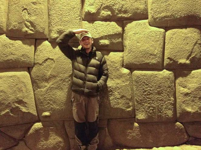 Meticulous masonry on the walls of Cusco, you couldn't insert a piece of paper in between those stones.