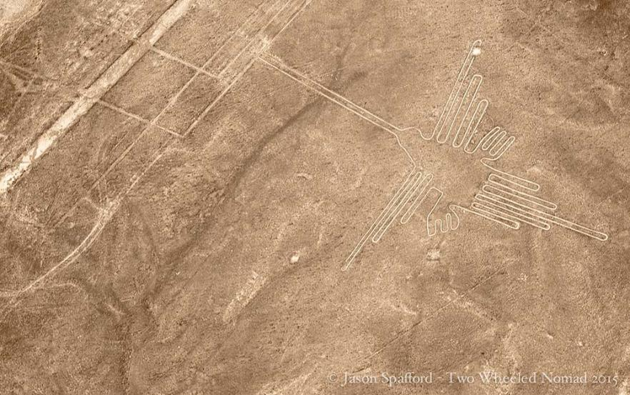 The iconic hummingbird, Nazca Lines, Peru