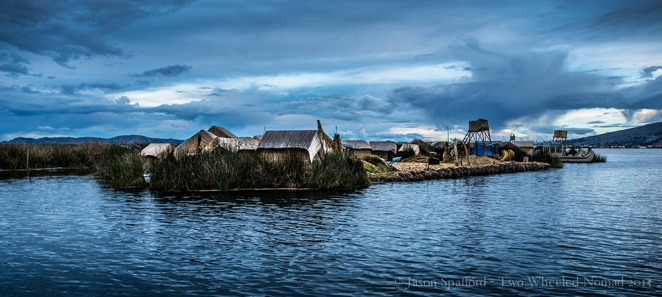 Uros' unique floating reed islands.