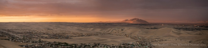 Apricot sunset over Huacachina
