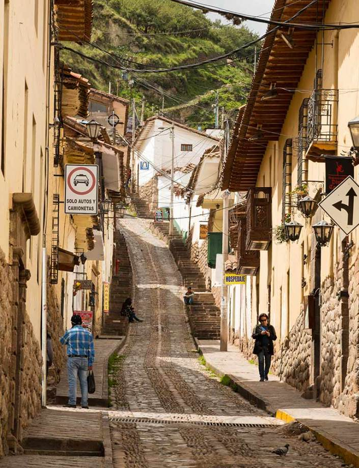 One of Cusco's narrow streets tucked away in this love-to-get-lost labyrinth of a city.