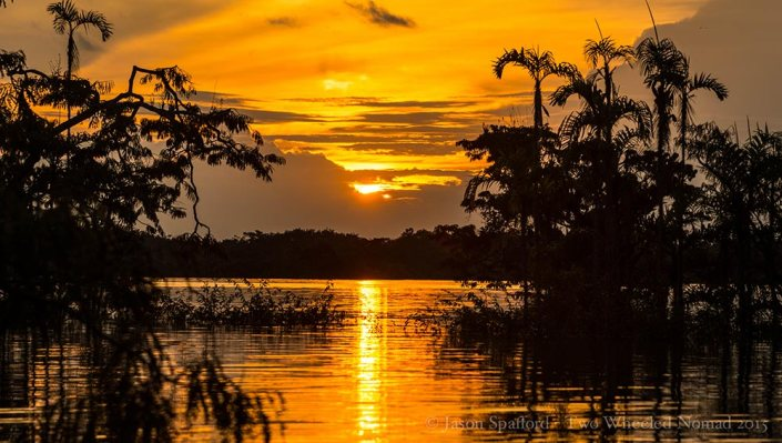 One of Pachamama's sunsets over the Amazon