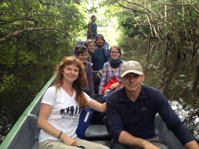 Amazonian voyeurs heading into the jungle