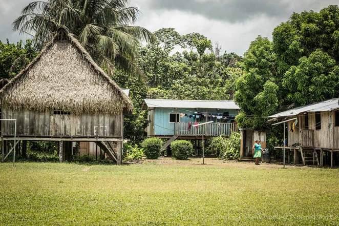 Puerto Bolivar, an indigenous village in the Amazon Basin