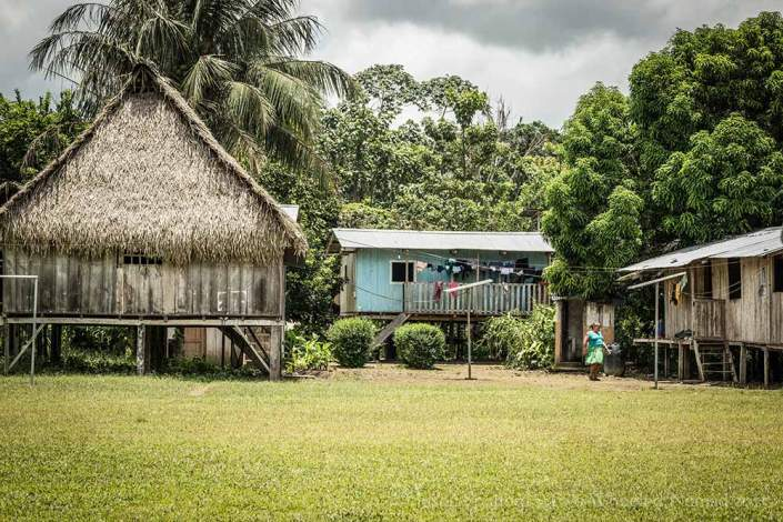Puerto Bolivar, an indigenous village in the Amazon Basin
