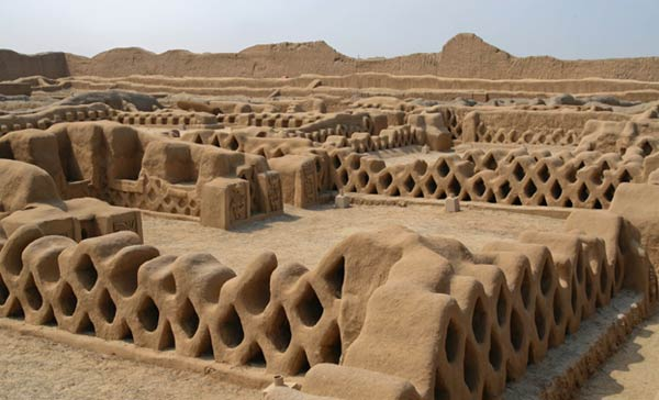 The world's once largest mud brick city: Chan Chan