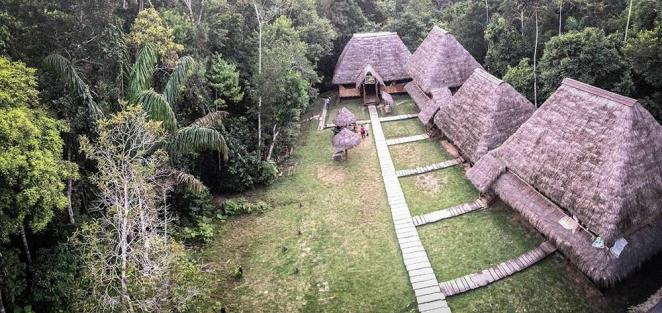 Vista-fantastic from Caiman Lodge's canopy viewing tower.