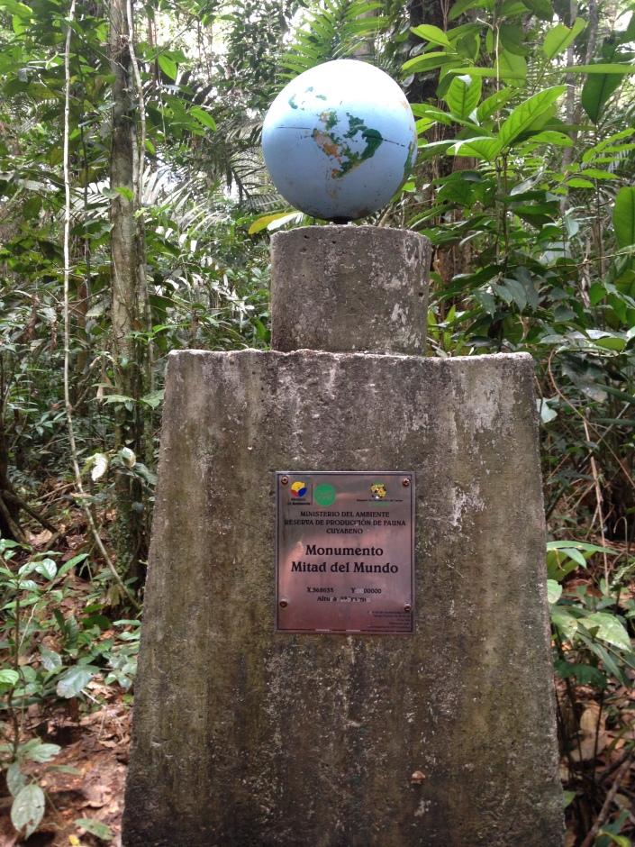 Crossing the equator deep inside the Amazon rainforest.