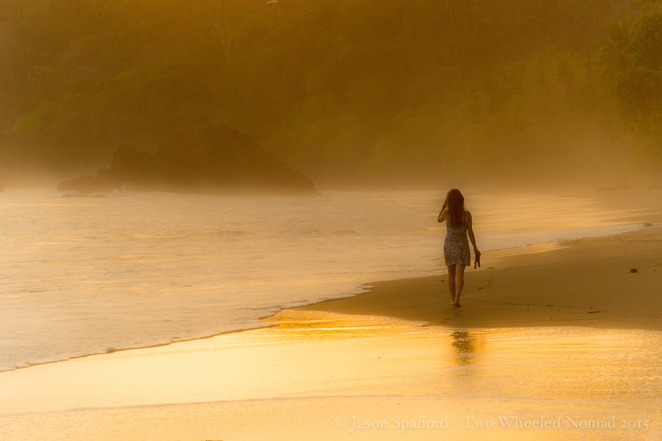 Caressing the golden sands in Costa Rica