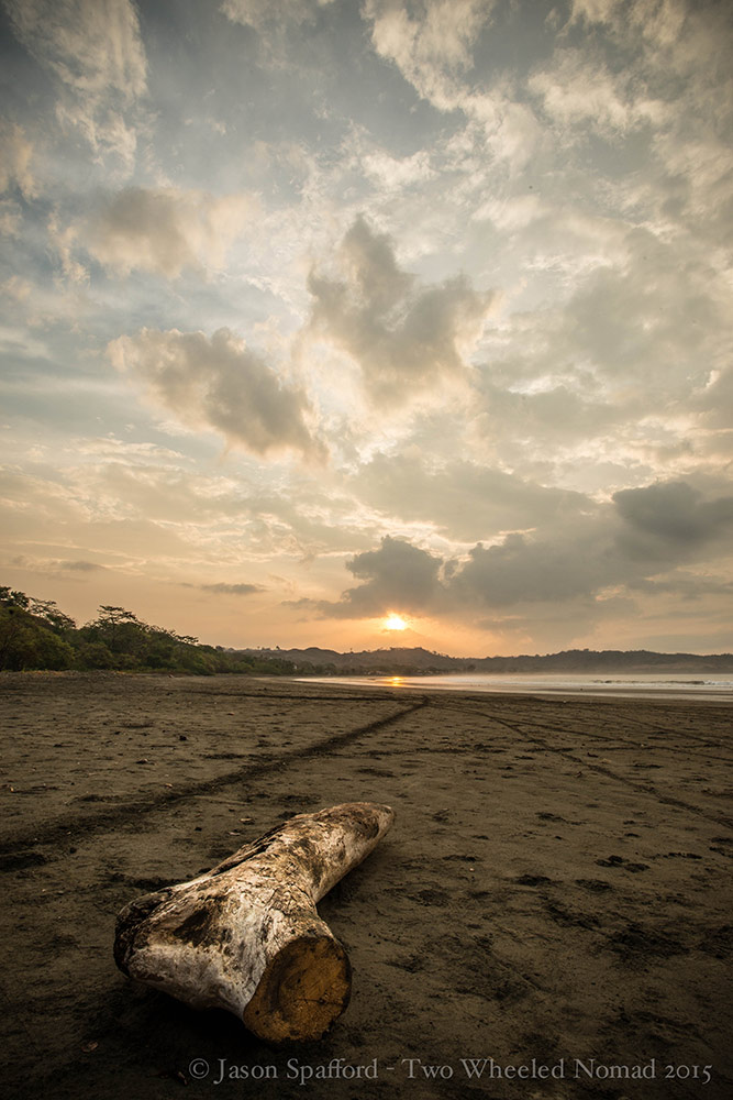 A sizzling sunset at Playa Venao beach, Panama