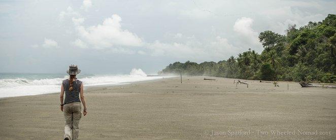 A wild and windswept beach, Rio Piro