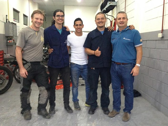 The dream team at Touratech Costa Rica
