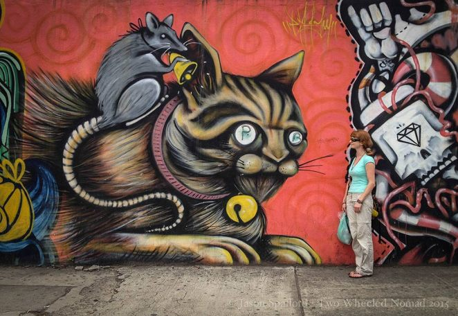 Street art in Costa Rica's capital city