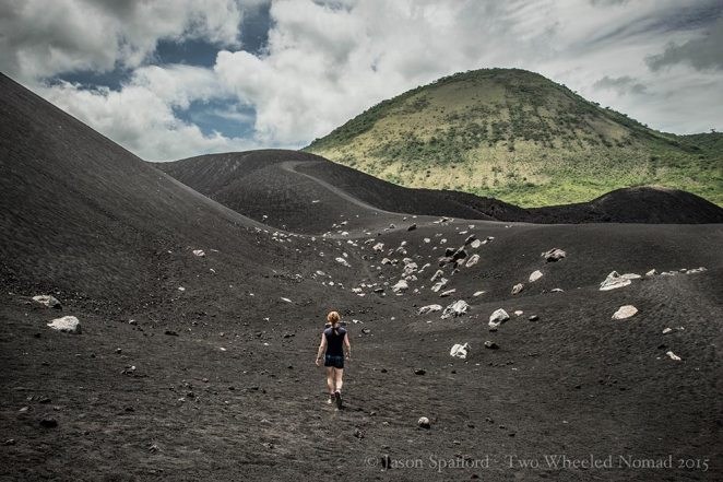 Going for a stroll on an active volcano, Central America's youngest one.