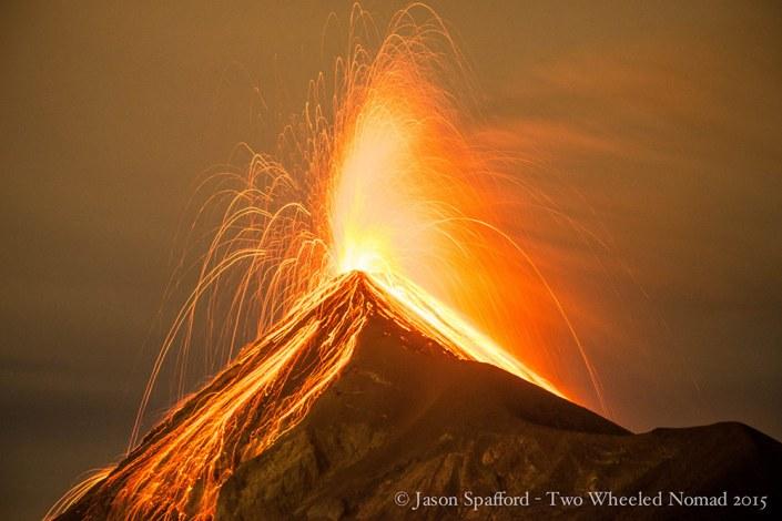 Fuego in full fiery eruption!