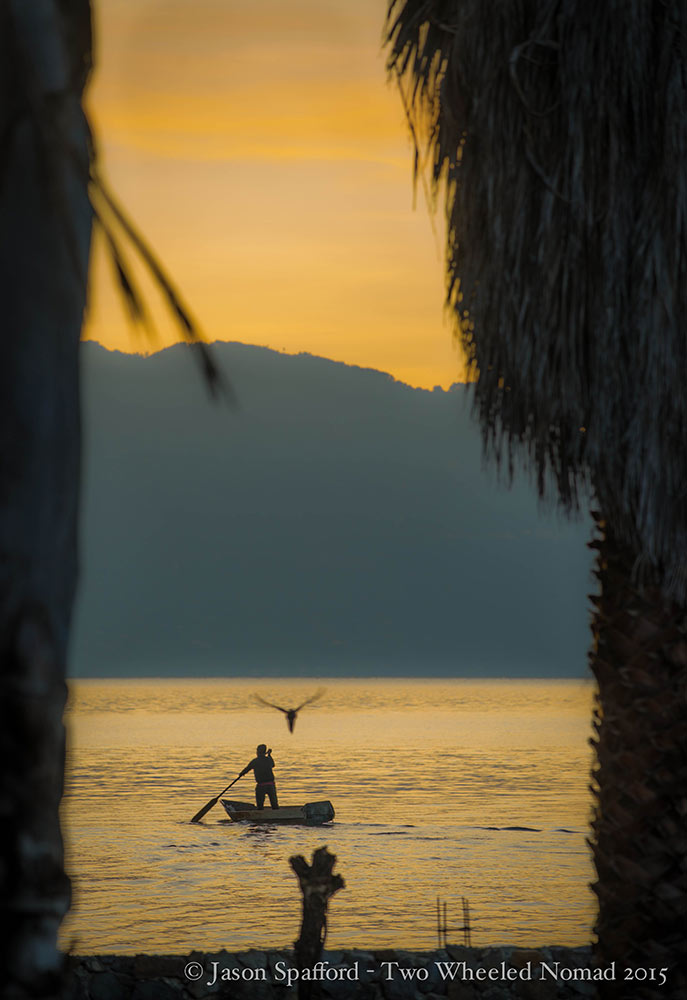 A stunning sunset at Lake Atitlán.