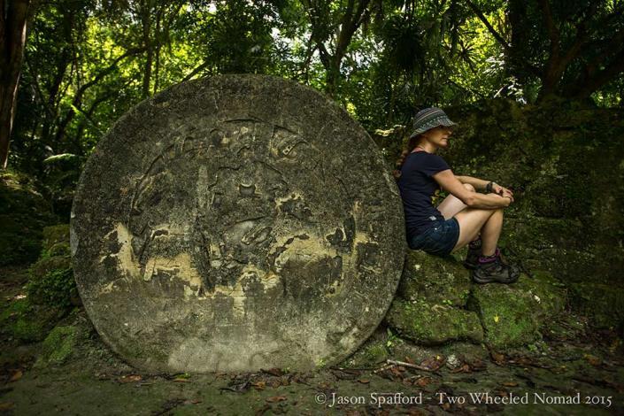Taking timeout, sight seeing at Tikal is tiring..!
