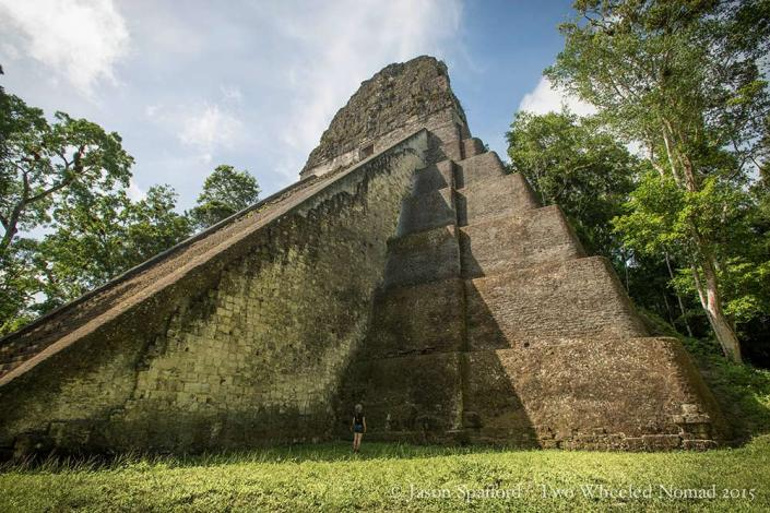 The pyramids and temples at Tikal are huge!