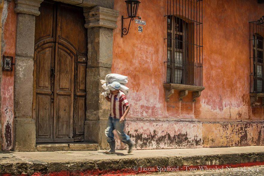 A street in Antigua, Guatemala