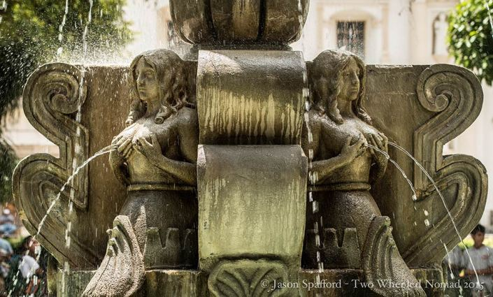 Probably my favourite place in Antigua, the water fountain in Central Park.