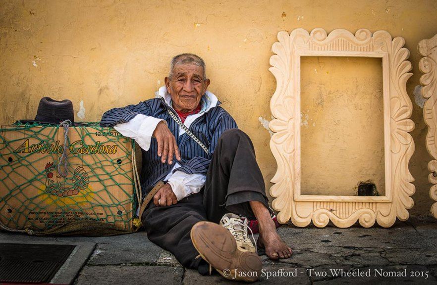 People watching becomes addictive in Antigua, Guatemala.