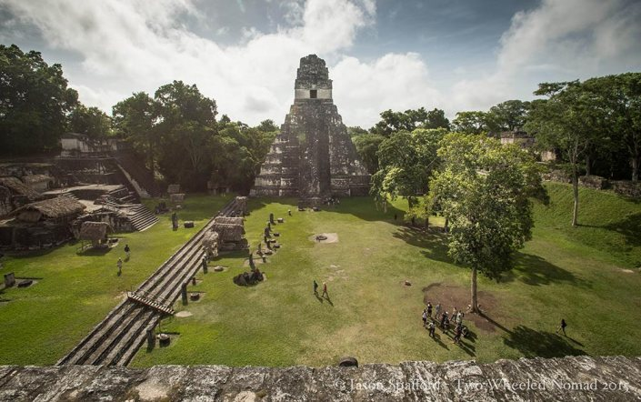 The layout of the main plaza at Tikal.