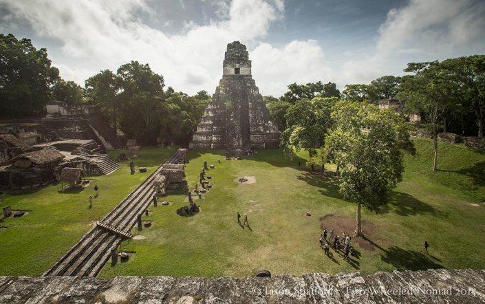 The layout of the main plaza at Tikal.