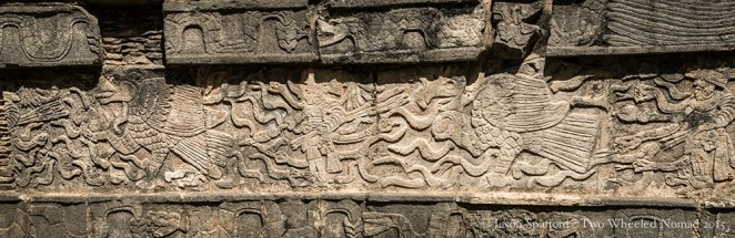 Incredible detail within the stone carvings