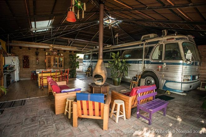 Leanne and Calvin's quirky place 'Overlander Oasis', El Tule.