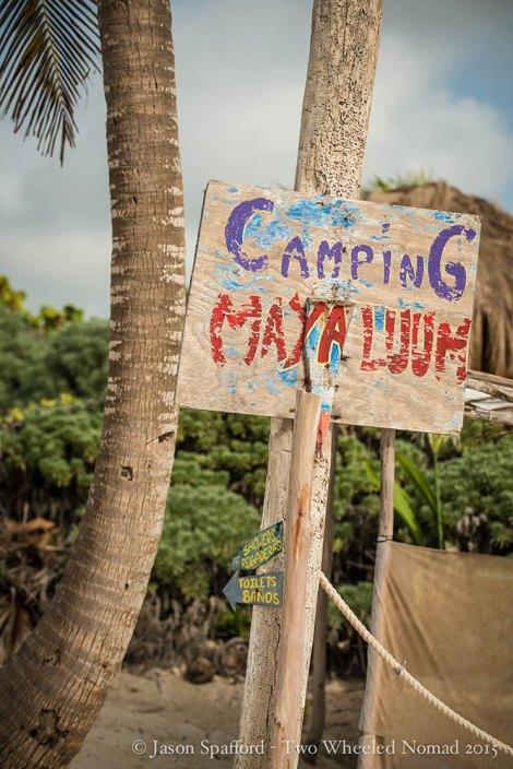 Camping at Maya Luum, Mexico