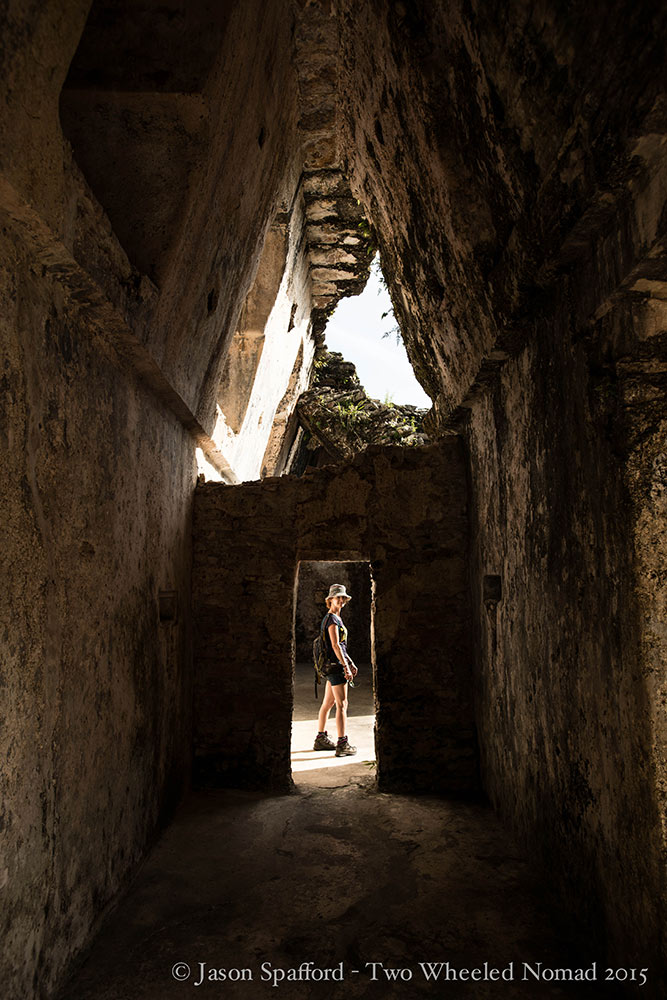 Exploring all the nooks and crannies at Palenque